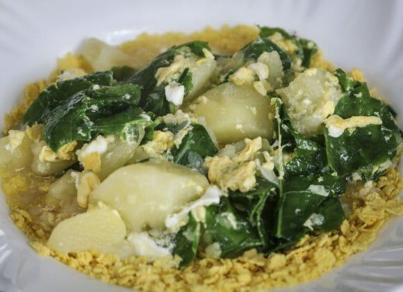 Cutia de couve com Farinha de Milho